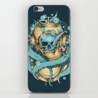 diver iPhone & iPod Skins featuring The Diver by Robin Clarijs