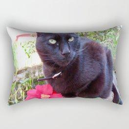 Luna, the black queen Rectangular Pillow