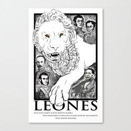 Leones of Latin American Culture Canvas Print