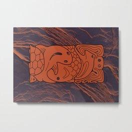 Totem Form Interplay Metal Print