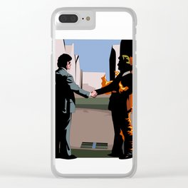 Wish you were here Clear iPhone Case
