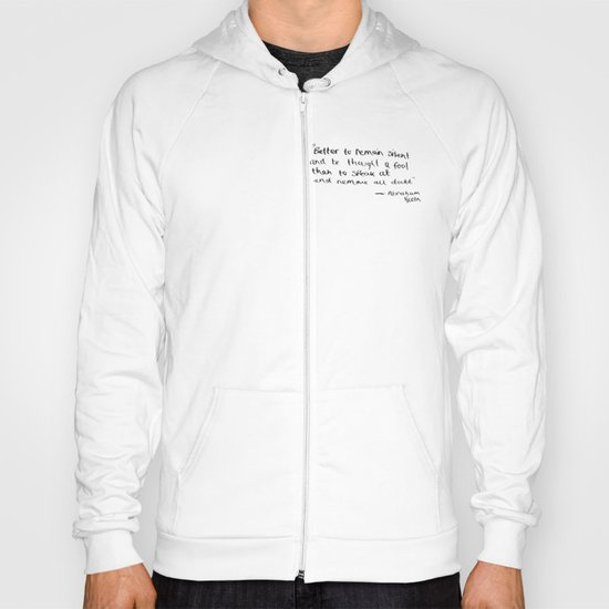 The Quote and the Photograph Hoody