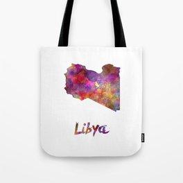 Libya in watercolor Tote Bag
