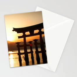 Itsukushima Shrine on Miyajima, Japan Stationery Cards