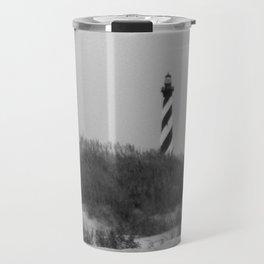 Hatteras Black & White Travel Mug