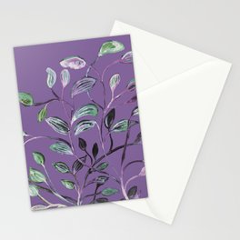 Silky Lavender Greenery Leaves Stationery Cards