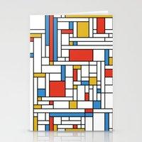 fibonacci Stationery Cards featuring Mondrian meets Fibonacci by Studio Fibonacci