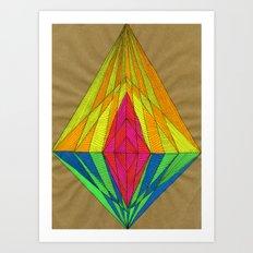 Diamond Light Art Print