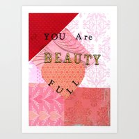 valentines Art Prints featuring Valentines by Patty Haberman
