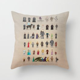 Game of Pixel Thrones Throw Pillow