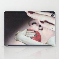 introvert iPad Cases featuring Introvert by Deborah Stevenson Collage Art