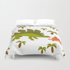 Dinos - Mom and baby Duvet Cover