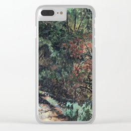 Lighted Path Through Green - Oil on canvas painting Clear iPhone Case