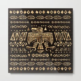 Aztec Golden Eagle Deity  Metal Print