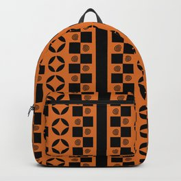 PATTERNED STRIPE, ORANGE Backpack