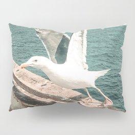 Seagull Taking Flight // California West Coast Pier Vibes Beach Ocean Surf City USA Pillow Sham