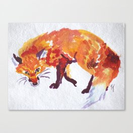 Sneaky Fox Canvas Print