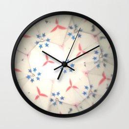 Blue Caleidoscope Wall Clock