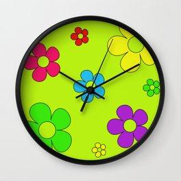 Flashback Lime Wall Clock
