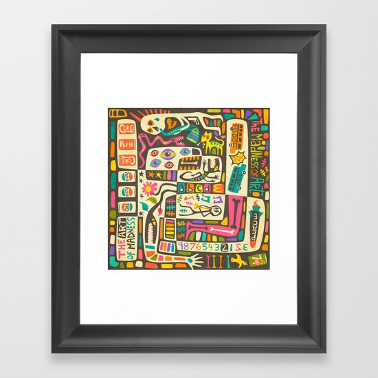 Tastes Great But Totally Inedible: Must be JAZZ (the art of madness and madness of art) Framed Art Print