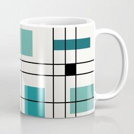 1950's Abstract Art Teal Coffee Mug