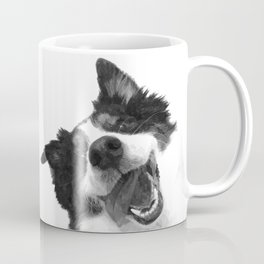 Black and White Happy Dog Coffee Mug