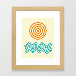 SUNSHINE AND WAVES (1) Framed Art Print
