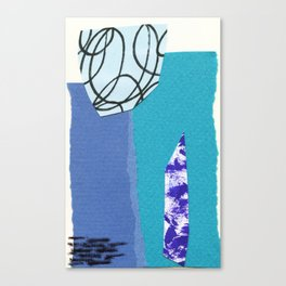 blue collage Canvas Print