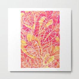 Schismatoglottis Calyptrata – Pink/Peach Palette Metal Print