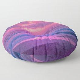 Romantic Sunset At Beautiful Seashore Purple Shade Ultra HD Floor Pillow