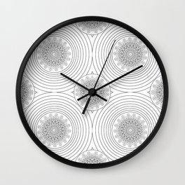 filigree black mandala Wall Clock