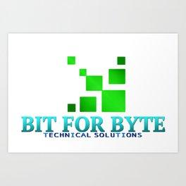 Bit for Byte (Teal) Art Print