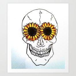 Smiling Skull Art Print