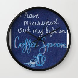 Coffee Spoons Wall Clock