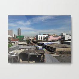 Communities in the capital of Thailand. Metal Print