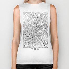 Vienna White Map Biker Tank