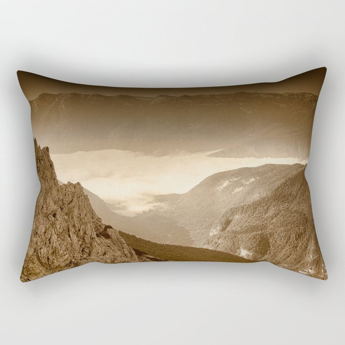 Afternoon Walk in the Hills Rectangular Pillow