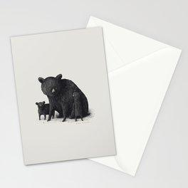 Black Bear Family Stationery Cards