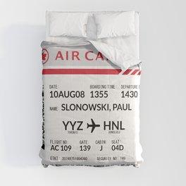 Boarding Pass SLP Comforters