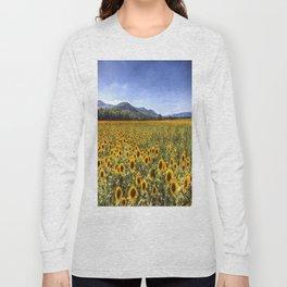 Sunflower Summer Field Long Sleeve T-shirt