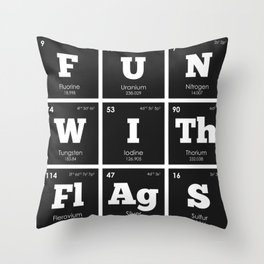 Periodic Elements: Fun with Flags Throw Pillow