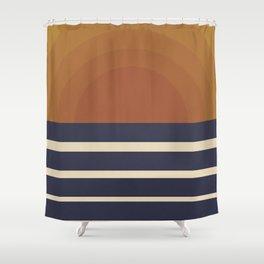 Retro Sunset Shower Curtain