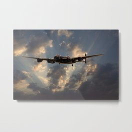 Lancaster- Into the Night Metal Print