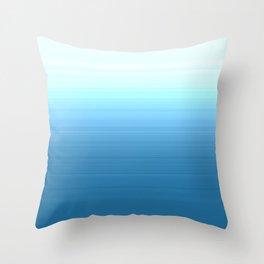 Sea blue Ombre Throw Pillow