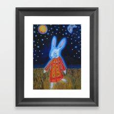Joseph Bunny and his Dream Coat Framed Art Print