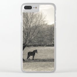 The horse and the tree Clear iPhone Case