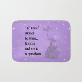 To Read or Not to Read Design Bath Mat