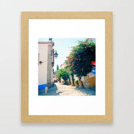 Obidos, Portugal(RR176) Analog 6x6 Kodal Ektar 100 Framed Art Print