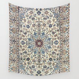 Persia Old Century Authentic Colorful Dusty Blue Gray Grey Vintage Accent Patterns Wall Tapestry