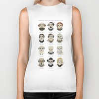 roald dahl Biker Tanks featuring Greater-Spotted British Authors by Scott Tyrrell